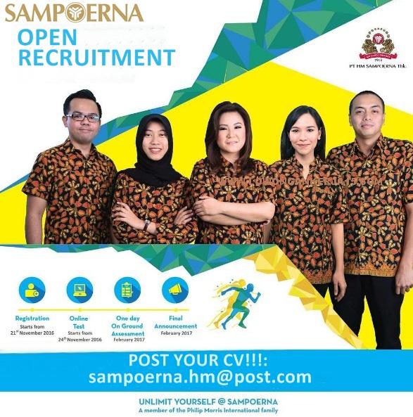 Lowongan Kerja PT HM Sampoerna Tbk Seluruh Indonesia